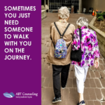 two women walking together from ABTCounseling.com
